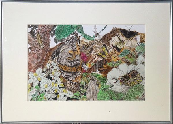 切絵 髙山のチョウのイメージ